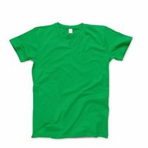 Remeras Verdes 100% Algodón Excelente Confección
