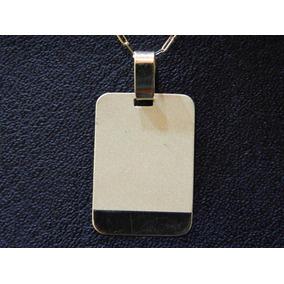 Conjunto Oro 18 Kilates Medalla Y Cadena Forcet 50cm