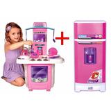 Kit Cozinha Infantil Fogaozinho Big + Super Geladeira Mágica