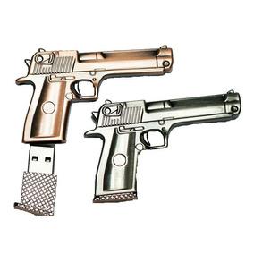 Memoria Usb 8gb Pistola Escuadra Cuerpo Metal Envio Gratis