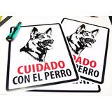 Letrero Cuidado Con El Perro - Pastor Alemán - 40x50x0,5 Mm