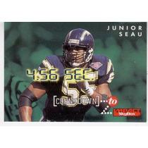 1995 Skybox Impact Countdown Junior Seau San Diego Chargers