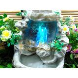 Fonte Água Rocha Cascata Led Relaxante Cristal Pedra Decorar