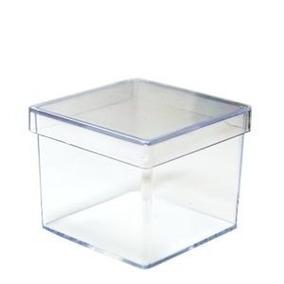 100 - Caixa De Acrilico 5x5 Para Lembrancinhas - Oferta