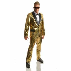 Traje Tuxedo Disco Dorado 70