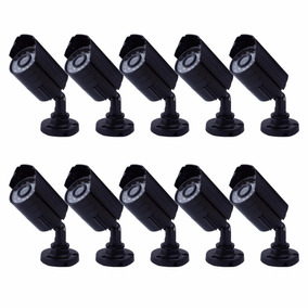 Kit 10 Cameras Seguranca Ccd Digital 1/3 Infra 30 Led 1200l
