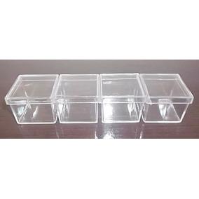 Caixinha Acrílica 4x4x3,3cm Transparente 120 Unidades