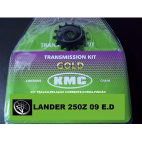 Kit Relação Lander 250 2008 C/ret Kit Tração Kmc Aço 1045