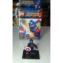 Boneco Capitão America Lego Super Heroes Marvel E Dc