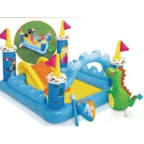 Pileta Inflable Castillo Playcenter Tobogan Accesorios Intex