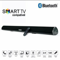 Caixa De Som Para Tv Smart 120w Rms Bluetooth Soundbar
