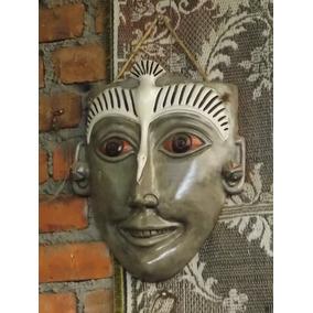 Mascara Artesanal Tipo Prehispanica Estilo Antiguo.
