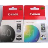 Tinta Canon Pg-40 Negro Y Cl- 41 Color P1300/ip2200/ip1600