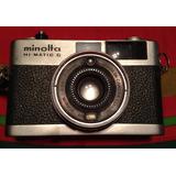 Cámara De Fotos Minolta Hi Matic G De Colección