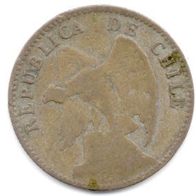 Moneda Chile.20 Ctvs.1913.plata.módulo.21.5 Mm