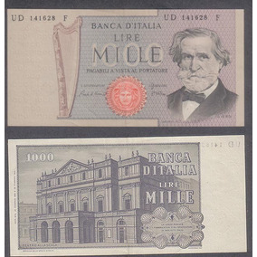 Billete Italia 1000 Liras 1969