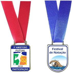 Medalha Esportiva Personalizada De Metal Resinada.