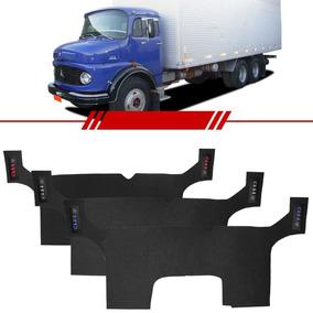 Tapete Inteiriço Pvc Caminhão Mb1113 Bordado Azul Vermelho