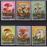 San Marino 1967 Serie Hongos Completa Mint