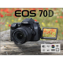 Câmera Canon 70d Wifi +18-55 Stm Nova E Original C/ Garantia