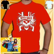 Camiseta Guns Roses Banda Rock Nirvana Axel Camisa Slash