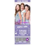 10 Ticket Tarjetas Invitaciones Cumpleaños Violetta Tini