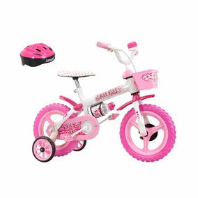 Bicicleta Infantil Aro 12 Kit Kat Com Capacete Track & Bikes