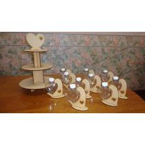 Torre Porta Cupcakes + 10 Porta Corazones X 10 U Souvenirs