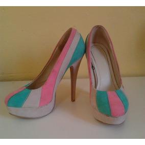 Zapatos Tacones Plataforma De Dama Numero 40 Negociable!!
