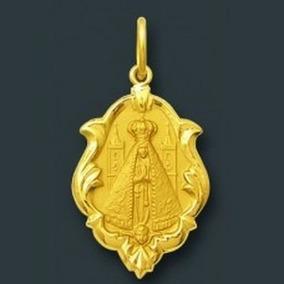 Medalha Nossa Senhora Aparecida Ouro 18k Ref 0005