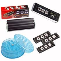 Smoking Armador Metalico+papelillo Ocb+filtro Ocb+picador