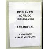 Display A4 - Acrílico 2mm - Para Parede - Não É Ps!