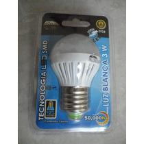 Foco Luz Led 3 W Bulbo Frío Cálido Ahorrador Ecológico Casa