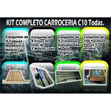 Kit Assoalho C10, Madeira, Frisos Inox, Travessa E Parafusos