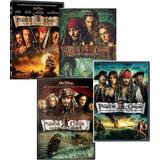 Dvds Piratas Do Caribe 1 A 4 - 4 Dvds - Col Completa Lacrado