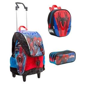Kit Mochila Mochilete G +lanch+estojo Spiderman 17z -sestini