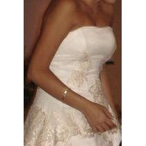 Vestido De Novia Precioso Color Champagne