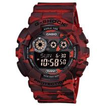 Relogio Casio G Shock Gd-120cm-4dr Alarmes Wr200m Nf-e