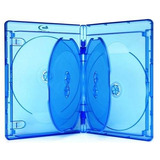 25 Cajas Blu-ray 21mm. Plastica Azul Para 4 Discos Blu-ray