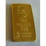 Lingotes De Oro Fino 999 De Banco Ciudad