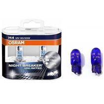 Lampada Osram Night Breaker Unlimited H4 Par + Pingo Philips