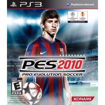 Ps3 Jogo Pes 2010 Pro Evolution Soccer Lacrado Original Game