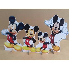 Kit Cenário Display Chão Mickey 8 Peças. Totem Mdf 3mm 48hs
