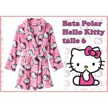 Bata Polar Hello Kitty Talle 6 Americana Abrigada Nueva