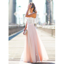 Hermoso Vestido Largo De Cóctel