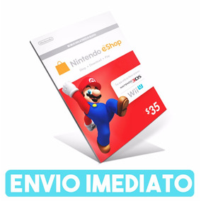 Cartão Nintendo 3ds Wii U Eshop Cash Card $30 Envio Rápido