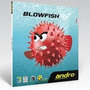 Goma De Tenis De Mesa Andro Blowfish Ping Pong Puntos Cortos