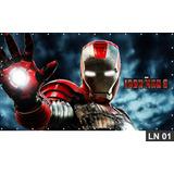 Homem De Ferro Painel 2,00x1,00 Lona Festa Aniversário Decor