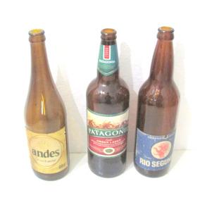 Tres Botellas Coleccionables De Cerveza En Muy Buen Estado