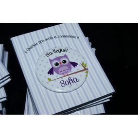10 Souvenirs Chapa C/ Iman Para Nacimiento Personalizados !!
